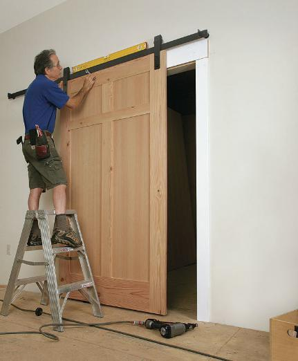 Furniture sliding door installation