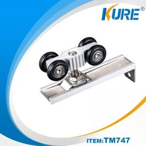 Aluminium roller track for sliding door