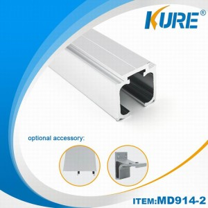 Aluminium Furniture Hardware Sliding Hanging Door Track
