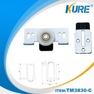 cabinet nylon sliding door roller wheel system