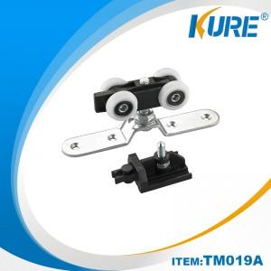 Reasonable price for Furniture Drawer Guides - Hanging sliding door plastic pulley – Kure Hardware