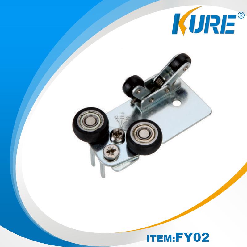 Nickel finish Steel sliding roller door wheels Featured Image