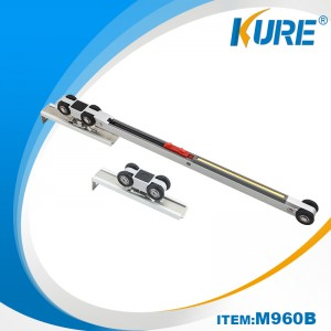 One Side Soft Closing Aluminium kabinet Sliding Hanger Door Rollers