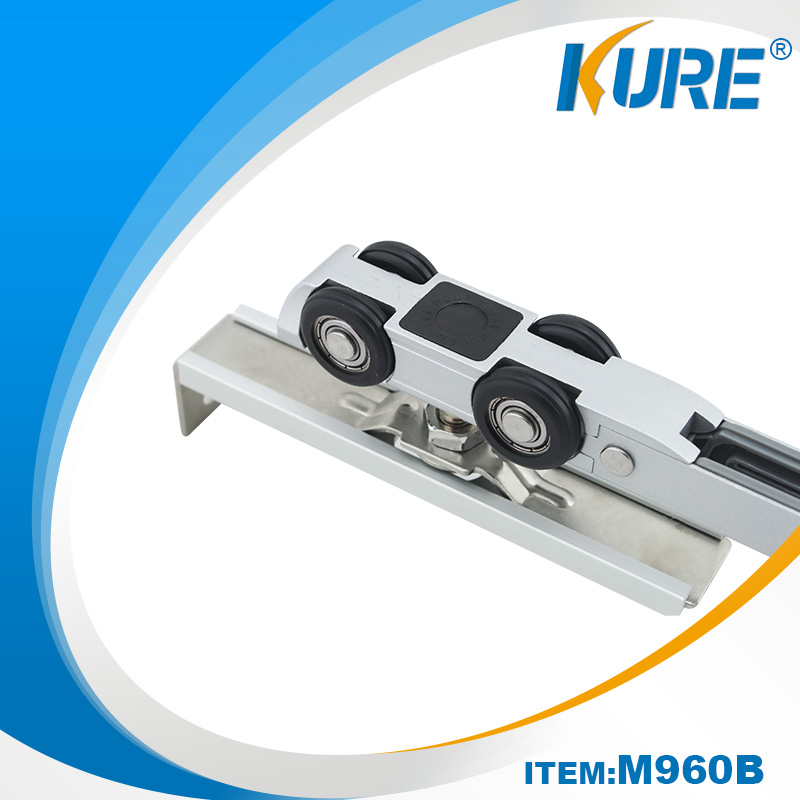 One Side Soft Closing Aluminium Cabinet Sliding Hanger Door Rollers
