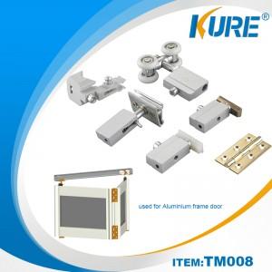 sliding aluminum frame door system