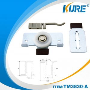 Sliding Door Pulley System nylon Caster Roller Wheel for Sliding Door