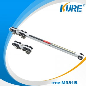 Soft closing on one side stainless steel sliding door roller