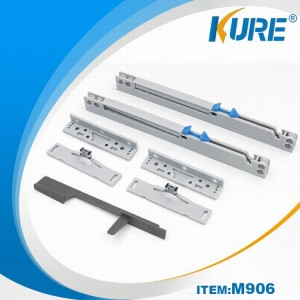 Top sale plastic damper soft close sliding door system